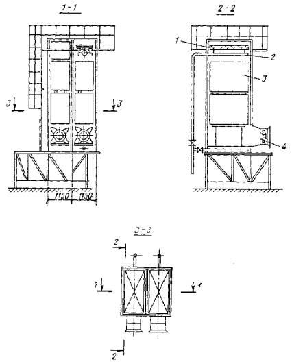 Схема вентиляторной градирни