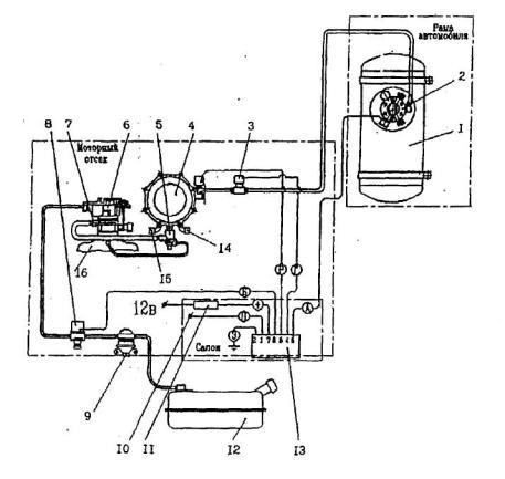 электрическая схема камаз 5320