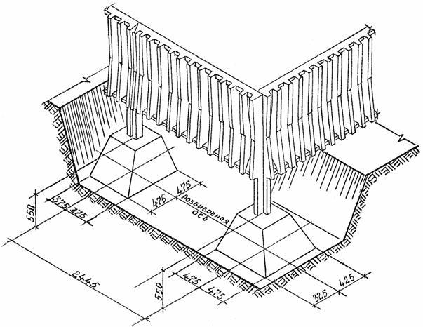 Железобетонная ограда железобетонные оголовки свай