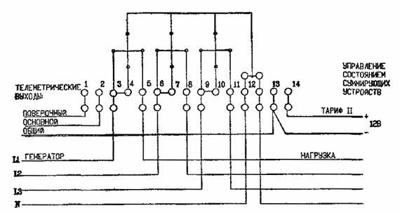 Непосредственное включение трехфазного двухтарифного электросчетчика сэтч-2 Примечание.  В одно-тарифном счетчике...