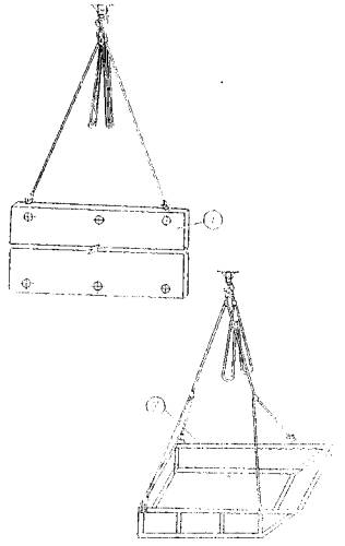 Схема строповки панели