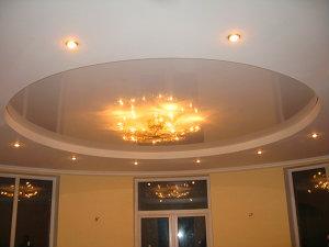 Натяжной потолок ПВХ, лаковый белый
