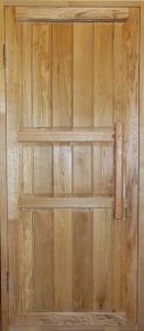 Двери в баню из дуба