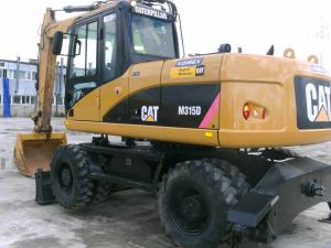 Аренда колесного экскаватора CAT 318