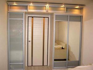 Встроенные шкафы-купе. Двери для шкафов-купе. Угловые шкафы-купе