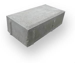 Тротуарная плитка 2П8-серая 200х100х80мм, М300, F200