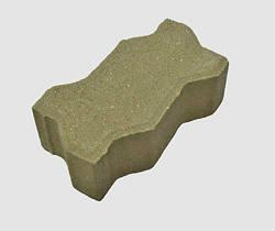 """Тротуарная плитка """"ЗигЗаг"""" П7, серая, размер:222х109,5х70мм, М300, F20"""