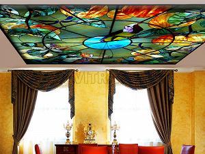 Витражные потолки Тиффани
