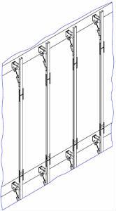 Нерж. фасадная система VENFAS с креплением в междуэтажные для плит