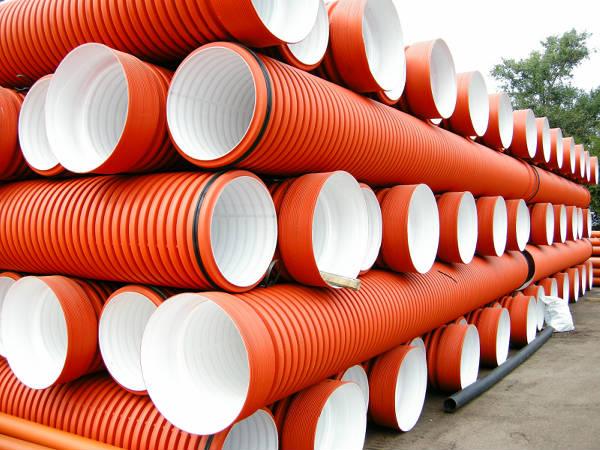 Фото Полипропиленовые гофрированные трубы для наружной и ливневой канализации