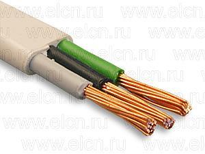 Провод сетевой гибкий ПУГНП (ПБВВГ) 2х4,0