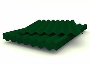 Шифер 8-ми волновой цветной (красный, коричневый, зеленый)