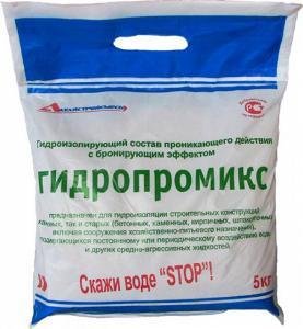 ГИДРОПРОМИКС-гидроизоляционный материал с бронирующим эффектом