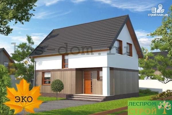 Фото 6: проект дом каркасный с террасой на заднем дворе