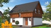 Фото: дом каркасный с террасой на заднем дворе