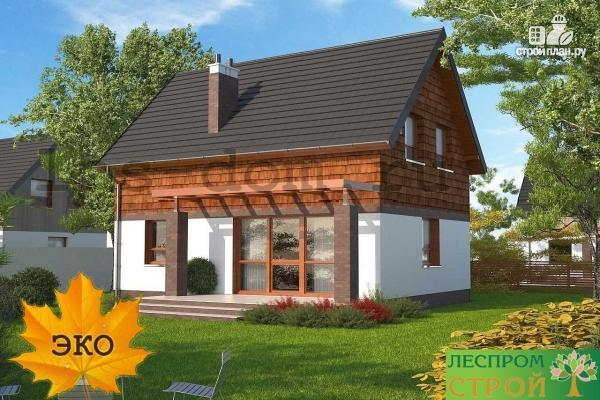 Фото 5: проект дом каркасный с террасой на заднем дворе
