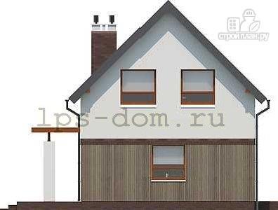 Фото 9: проект дом каркасный с террасой на заднем дворе