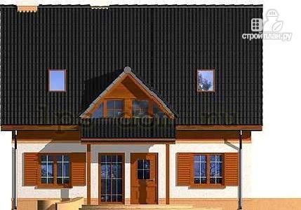 Фото 4: проект каркасный дом с эркером в гостиной