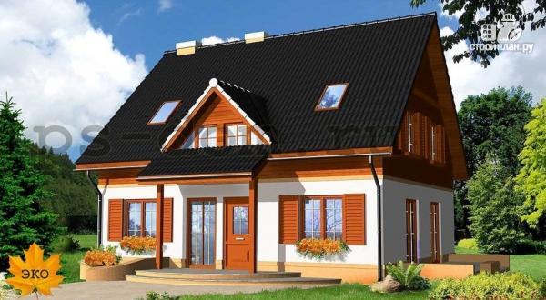 Фото: проект каркасный дом с эркером в гостиной