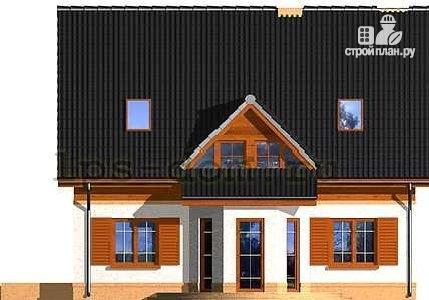 Фото 5: проект каркасный дом с эркером в гостиной