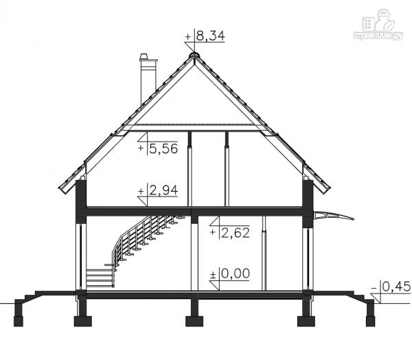 Фото 11: проект дом каркасный со встроенным гаражом