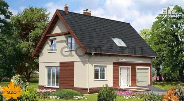 Фото: проект дом каркасный со встроенным гаражом
