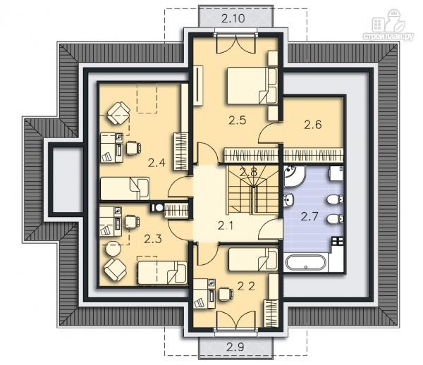 Фото 10: проект каркасный дом из высококачественной доски первого сорта 150х50