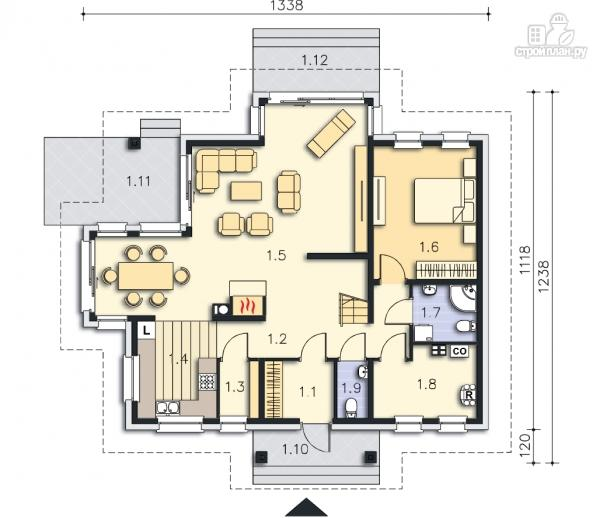 Фото 9: проект каркасный дом из высококачественной доски первого сорта 150х50