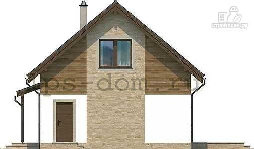 Фото 7: проект каркасный дом с камином и террасой