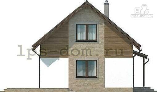 Фото 6: проект каркасный дом с камином и террасой