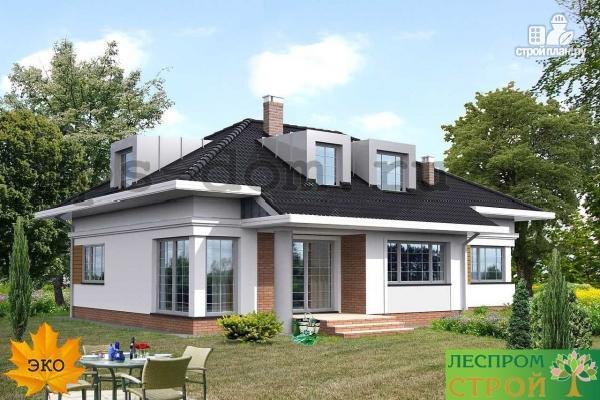 Фото 2: проект уютный дом в современном стиле, для большой семьи