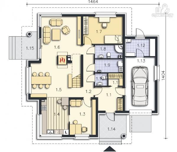 Фото 9: проект уютный дом в современном стиле, для большой семьи