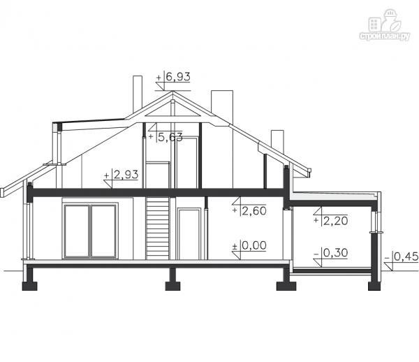 Фото 11: проект уютный дом в современном стиле, для большой семьи