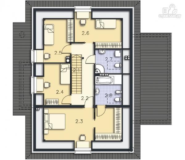 Фото 10: проект уютный дом в современном стиле, для большой семьи