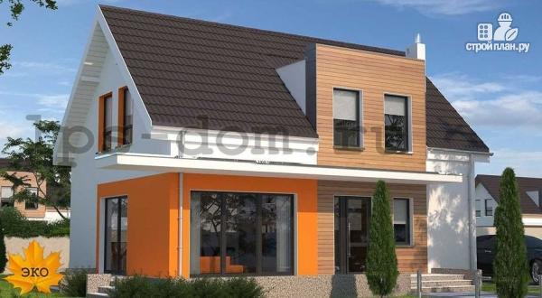 Фото: проект каркасный дом с совмещённой гостиной и кухней