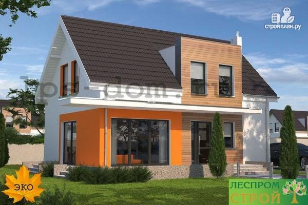 Фото 7: проект каркасный дом с совмещённой гостиной и кухней