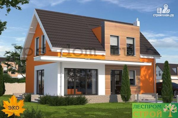 Фото 5: проект каркасный дом с совмещённой гостиной и кухней