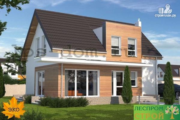 Фото 3: проект каркасный дом с совмещённой гостиной и кухней