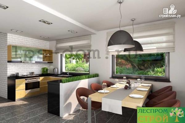 Фото 13: проект каркасный дом со вторым светом в гостиной