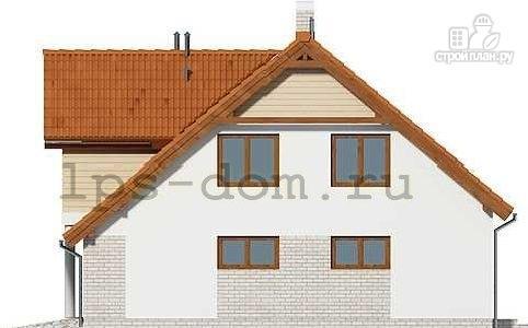 Фото 7: проект каркасный дом с террасой, балконом и гаражом