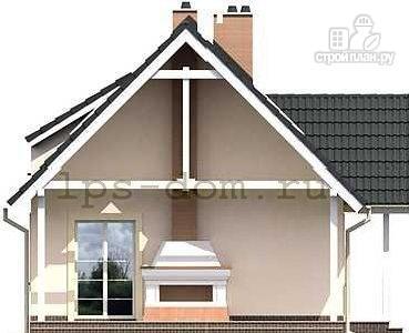 Фото 6: проект каркасный дом с камином на террасе