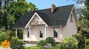 Фото: каркасный дом с камином на террасе