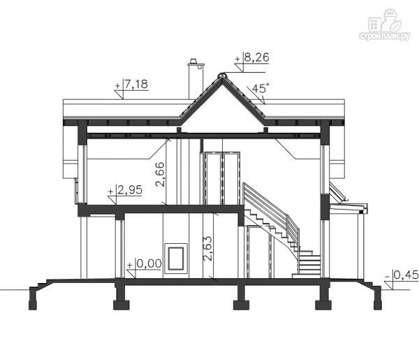Фото 12: проект дом каркасный с гаражом