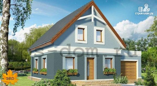 Фото: проект дом каркасный с гаражом