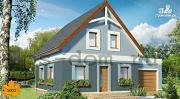 Проект дом каркасный с гаражом