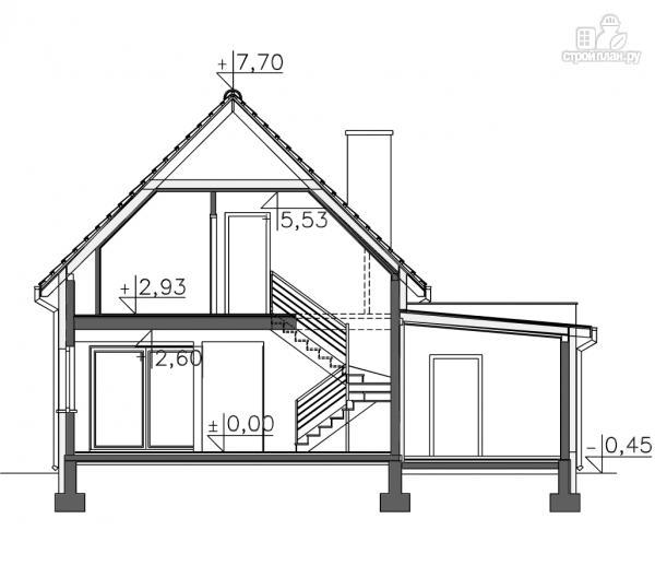 Фото 11: проект дом каркасный с гаражом