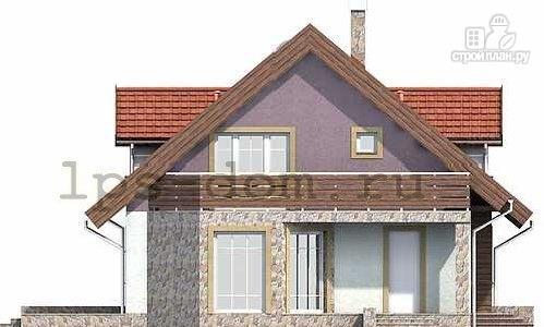 Фото 6: проект дом каркасный, с балконом