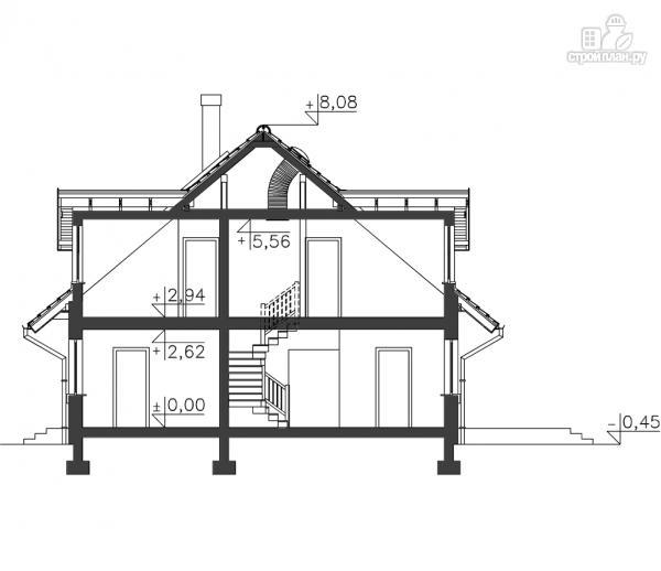 Фото 11: проект дом каркасный, с балконом