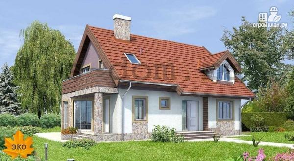 Фото: проект дом каркасный, с балконом