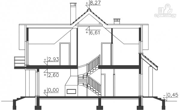 Фото 10: проект каркасный дом 12х15 с гаражом